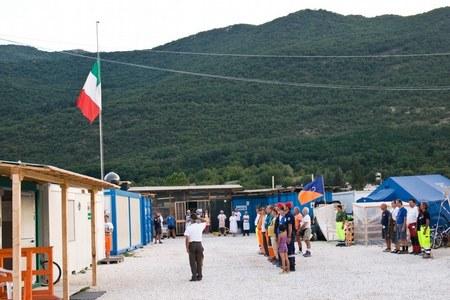 Campo accoglienza di Villa Sant'Angelo (AQ)