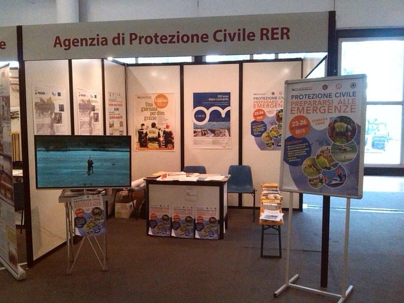 Stand Agenzia Regionale Protezione Civile negli spazi di RemTech 2015
