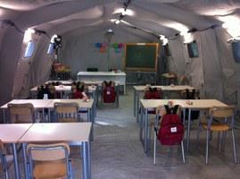 Sisma nell'Italia centrale. Primo giorno di scuola a  Montegallo (AP)