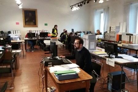 Volontari e personale dell'Agenzia a Caldarola e San Severino Marche