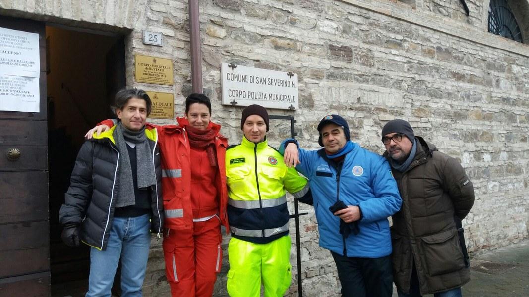 Volontari e funzionari dell'Agenzia a Caldarola e San Severino Marche - 7