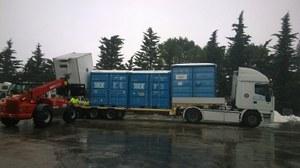 Smontaggio strutture della Colonna Mobile Regionale a Caldarola
