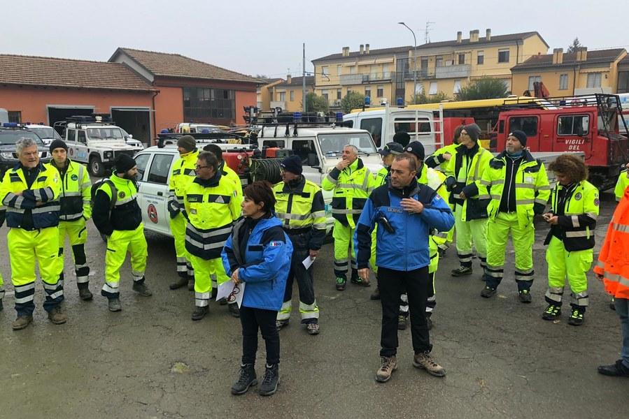 Partenza squadre volontari dal COC di Budrio per sopralluoghi sul territorio II
