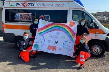 COVID-19 l'intervento dei volontari di protezione civile