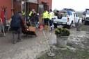 Maltempo Budrio volontari all'opera