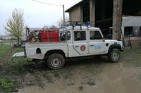 Alluvione Budrio - mezzi al lavoro