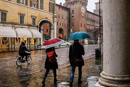 Pioggia in città