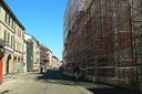 Cantiere edile, ricostruzione, edifici