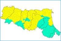 Mappa classificazione sismica ER